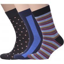 Комплект из 3 пар мужских носков Flappers Peppers микс 3