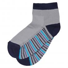 Детские укороченные носки с сеточкой ХОХ СЕРЫЕ