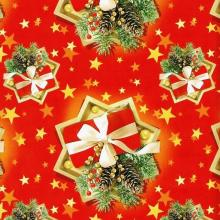 Упаковка 1 кейса в подарочную бумагу  Новый год в красном