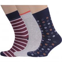 Комплект из 3 пар мужских носков Flappers Peppers микс 22