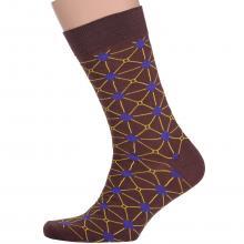 Мужские носки ТМ NIKITAI (Нева-Сокс) КОРИЧНЕВЫЕ
