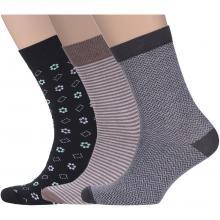 Комплект из 3 пар мужских носков Flappers Peppers микс 4