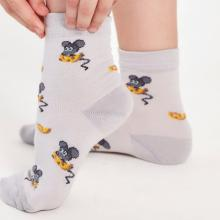 Детские носки LORENZline СЕРЫЕ с мышками