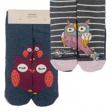 Комплект женских хлопковых носков EKMEN, 2 пары ТЕМНО-СЕРЫЕ/РОЗОВЫЕ