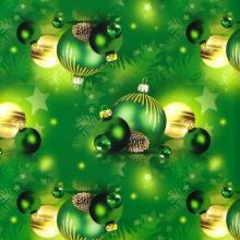 Упаковка 1 кейса в подарочную бумагу  Новый год в зеленом