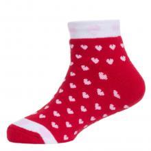 Детские махровые укороченные носки  Красная ветка  КРАСНЫЕ