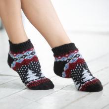Женские шерстяные короткие носки (Бабушкины носки) МУЛЬТИКОЛОР