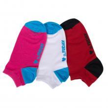 Комплект из 3 пар коротких unisex носков St. Friday Socks красный / белый / фуксия