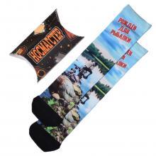 Мужские носки в подарочной упаковке НОСМАГСТЕР с принтом  Рожден для рыбалки