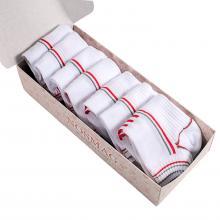 Набор из 7 пар спортивных носков (Гранд Сокс) бело-красные