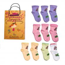 Набор для девочек из 10 пар носков LORENZline микс