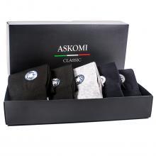 Комплект из 5 пар хлопковых мужских носков ASKOMI микс