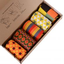Набор из 5 пар мужских носков (НЕВА-Сокс) микс  Жгучий карри