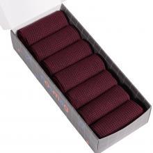 Набор из 7 пар мужских носков (LORENZline) темно-бордовые