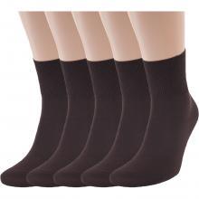 Комплект из 5 пар мужских укороченных носков RuSocks (Орудьевский трикотаж) КОРИЧНЕВЫЕ