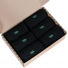 Набор из 6 пар мужских бамбуковых носков  (ТМ Grinston) черные