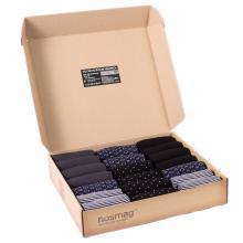 Набор носков из 20 пар в кейсе с сургучной печатью (Stylish, «Гранд-Сокс») микс 41