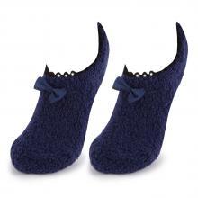 Женские укороченные махровые носки Marilyn ТЕМНО-СИНИЕ