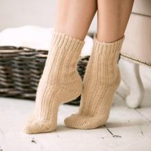 Женские шерстяные носки (Бабушкины носки) БЕЖЕВЫЕ