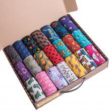 Набор из 21 пары женских хлопковых носков Flappers Peppers микс в кейсе  Фэнси Шмэнси