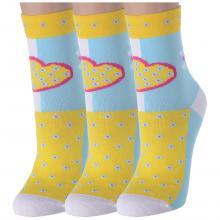 Комплект из 3 пар женских носков LORENZLine ЖЕЛТЫЕ