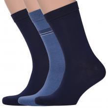 Комплект из 3 пар мужских носков Comfort (Palama) СИНИЕ / ТЕМНО-СИНИЕ