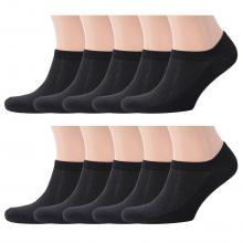 Комплект из 10 пар мужских ультракоротких носков Flappers Peppers ЧЕРНЫЕ