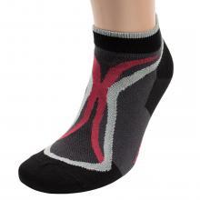 Мужские короткие спортивные носки  Красная ветка  ЧЕРНО-СЕРЫЕ