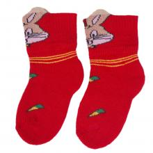 Детские махровые носки LORENZline КРАСНЫЕ