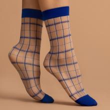 Женские носки Fiore БЕЖЕВО-СИНИЕ