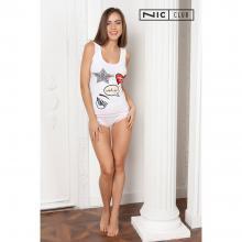 Комплект женский (майка+шорты) NicClub БЕЛЫЙ