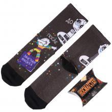 Молодежные носки в подарочной упаковке НОСМАГСТЕР с принтом  Ладно... неси зачетку