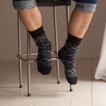 Мужские шерстяные носки (Бабушкины носки) ЧЕРНЫЕ