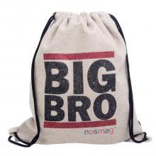 Льняной мешок с надписью «BIG BRO»