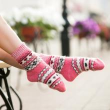 Детские шерстяные носки (Бабушкины носки) РОЗОВЫЕ