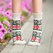 Детские шерстяные носки (Бабушкины носки) БЕЖЕВЫЕ