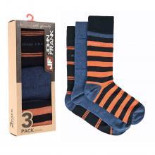 Комплект из 3 пар мужских носков JOHN FRANK СИНЕ-ОРАНЖЕВЫЕ