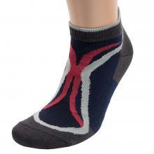 Мужские короткие спортивные носки  Красная ветка  ГРАФИТОВО-СИНИЕ