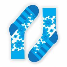 Носки unisex St. Friday Socks Flowerheart / БИРЮЗОВЫЕ