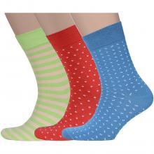 Комплект из 3 пар мужских носков Flappers Peppers микс 23