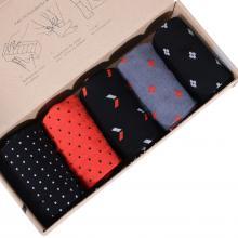 Набор из 5 пар мужских носков (НЕВА-Сокс) микс  men in black