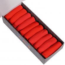 Набор из 10 пар мужских коротких носков (LORENZline) красные
