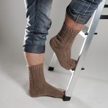 Мужские шерстяные носки (Бабушкины носки) КОРИЧНЕВЫЕ