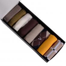 Набор из 7 пар мужских носков от фабрики VIRTUOSO желто-коричневый микс