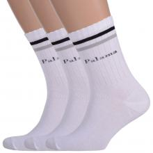 Комплект из 3 пар мужских спортивных носков Comfort (Palama) БЕЛЫЕ
