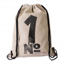 Льняной мешок с принтом  №1