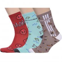 Комплект из 3 пар мужских носков Flappers Peppers микс 13