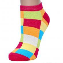 Женские хлопковые носки CORNETTE КЛЕТКА