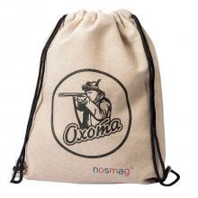 Льняной мешок с принтом  Охота