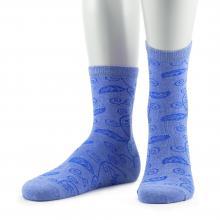 Женские носки из микромодала и хлопка Grinston СИНИЕ